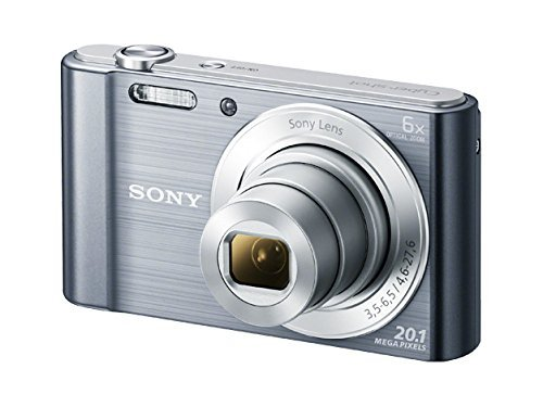 Sony DSC-W810M – 20.1 MP Digital Camera with 6x Optical Zoom – Silver (Certified Refurbished)