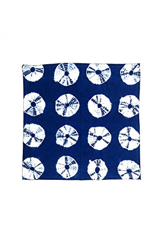 Vagabond-Vintage-100-Hand-Dyed-Cotton-Napkins-in-Dark-Indigo-Blue-Shibori-3