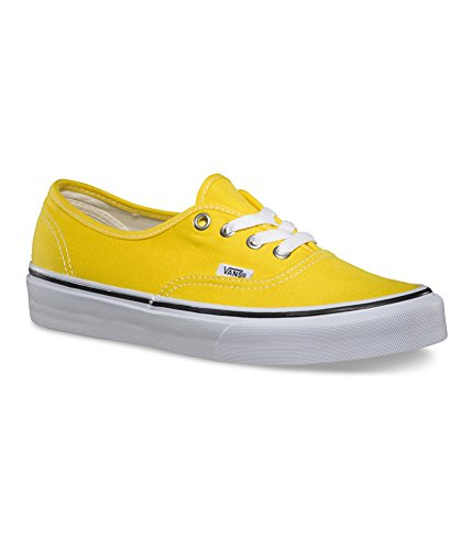 334d7c91a498 ... Vans Authentic Womens Skate Shoes in Cyber Yellow True White sz 7 ...