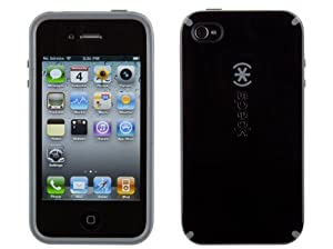 Speck Products CandyShell Case for iPhone 4 only(Black/Gray, Fits AT&T iPhone)