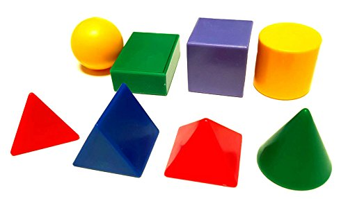 8 Geometric Solid 3D Shapes for Mathematics & Development Early ...