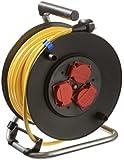 as - Schwabe 10136 Sicherheits-Kabeltrommel 230mmØ 25m K35 AT-N07V3V3-F 3G1,5 gelb, IP44 Aussenbereich