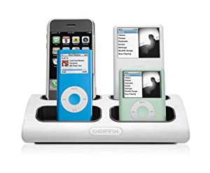 Griffin Powerdock 4 6153-MLTDCK4 - 4 Position Charging Station for iPod and iPhone