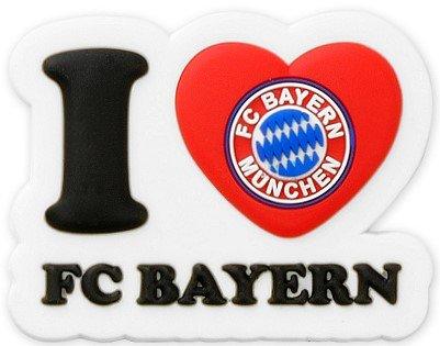 """3 D Fanmagnet FC Bayern München """"I Love FC Bayern"""""""