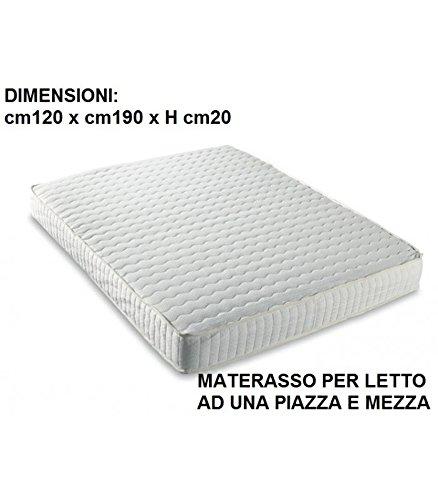 MATERASSO MEMORY UNA PIAZZA E MEZZA cm 120x190 SOTTOVUOTO E MADE IN ITALY