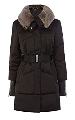 FUNNEL-NECK QUILTED COAT