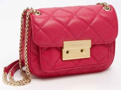 MICHAEL Michael Kors Sloan Small Shoulder Flap Shoulder Handbags - Pink