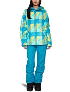 O'Neill Women's Cats Eye Snow Jacket  -  Blue Aop 5, Small