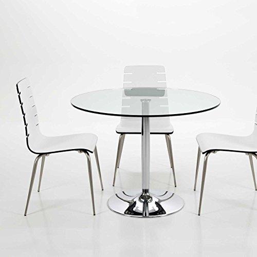 lounge-zone Tavolo da pranzo tavolo da bistrot messetisch Tavolo da cucina Bartisch Design objektmöbel messemöbel Beck lastra di vetro 12mm trasparente 100x75cm 14185
