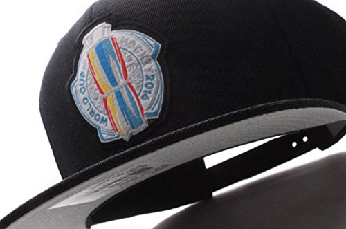Mitchell & Ness World Cup of Hockey 2016 Logo Adjustable Snapback Hat (Black)