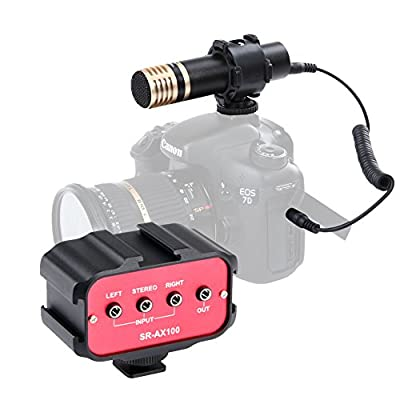 Movo DSLR Audio Bundle with Mini Capsule Stereo Video Microphone and Standard Mixer for DSLR Cameras & Camcorders