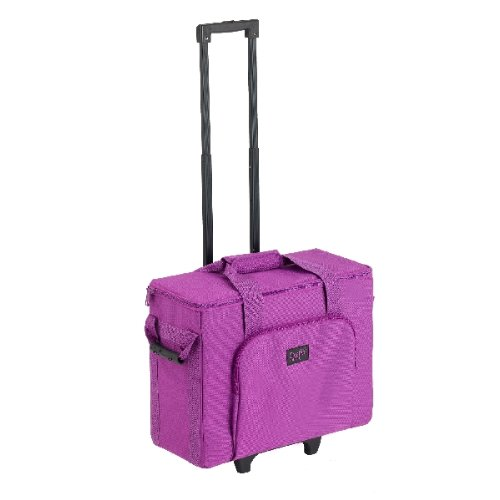 Creative Notions Sewing Machine Trolley In Purple front-638569