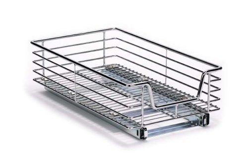 Household Essentials Extra-Deep Sliding Cabinet Organizer, Chrome, 11-1/2-Inch (Deep Storage Cabinet compare prices)