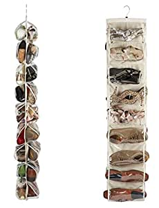 18 pocket hanging schuh organizer mit klaren pvc taschen. Black Bedroom Furniture Sets. Home Design Ideas