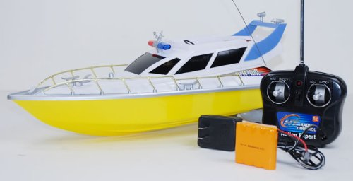 remote control rc radio control 1/20 Scale SUPER SPEED POLICE YACHT Electric Remote Control Boat (colors vary sent at random)