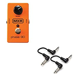 """MXR M101 Phase 90 Phaser Guitar Stomp box Effect Pedal w/ 2x 6"""" Patch Cables from MXR"""