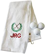 Personalized Embroidered Initials Golf Hand Towel