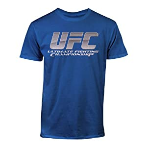 UFC Men's Chrome Logo Tee, Royal, Medium