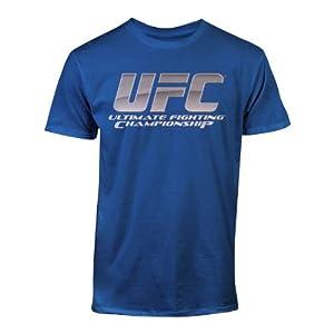 UFC Men's Chrome Logo Tee, Royal, Medium