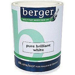 Berger Vinyl Silk Pure Brilliant White White 5 0l