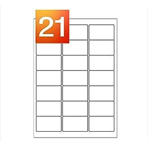 50 Sheets - 21 Per Sheet (63.5 x 38.1mm) A4 Laser / Inkjet Self Adhesive Printer Address Labels - 1050 Labels - L7160 Avery Compatible - Mr Stationary® Range