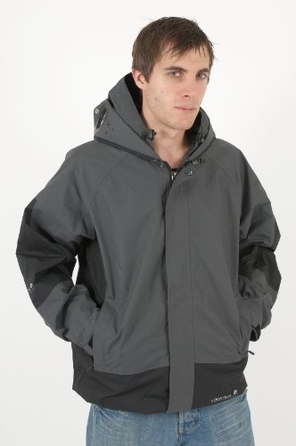 New Mens Location Goggle Rain Hooded Coat Jacket S-XXL
