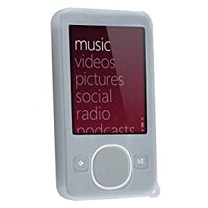 Clear White Silicone Skin Case for Microsoft Zune Gen2 80G mp3 player