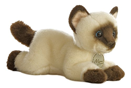 Aurora World Miyoni Siamese Cat Plush, 8""