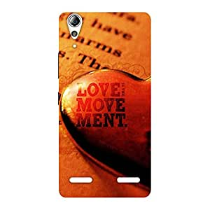 Gorgeous Love Movement Back Case Cover for Lenovo A6000 Plus