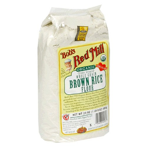 Bob's Red Mill Organic Brown Rice Flour, 24-Ounce Packages (Pack of 4)