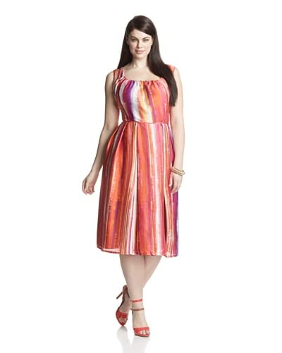 Melissa Masse Plus Women's Scoop Neck Sleeveless Dress
