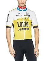 Santini Maillot Ciclismo (Blanco / Amarillo)