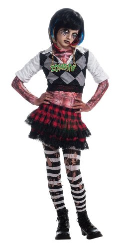 [Girl Zombie Punk Rocker #1 Costume, Small] (Punk Rocker Costumes For Kids)
