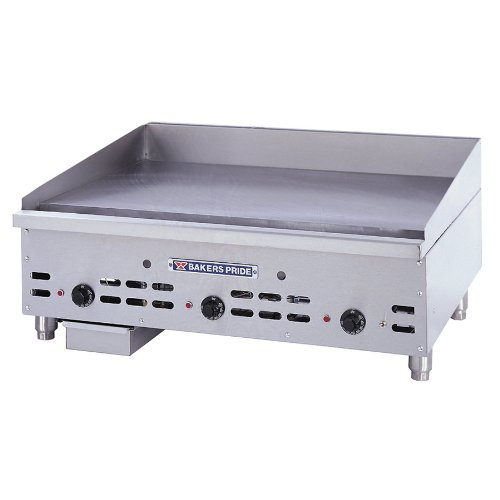 "Natural Gas Bakers Pride HDMG-2472 Heavy Duty 72"" Countertop Griddle with Manual Controls Gas"