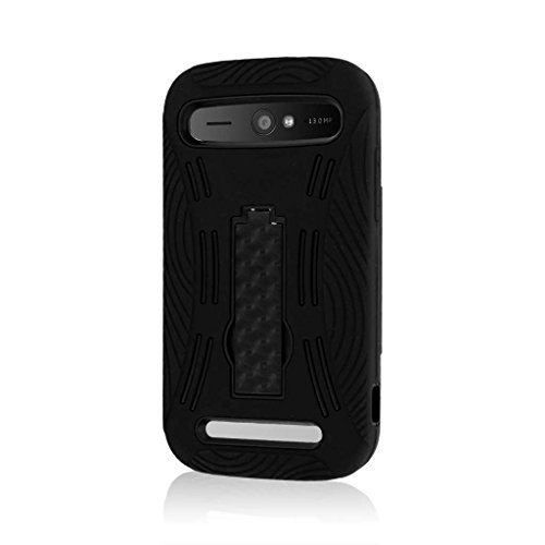 ZTE Warp Sync Case, MPERO IMPACT XL Series Kickstand Case for ZTE Warp Sync - Black (Zte Warp Sync Phone Accessories compare prices)