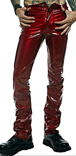Lip Service Men's Vinyl PVC Gothic Punk Rocker Slim Jeans Pants (34) (Lip Service Vinyl Pants compare prices)