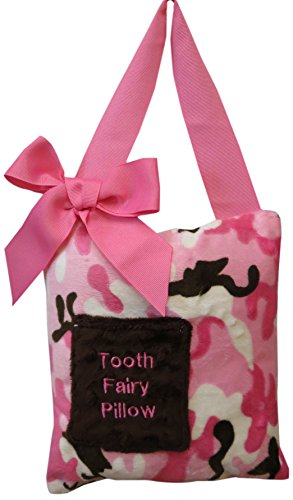 Caught Ya Lookin' Tooth Fairy Pillow, Pink Camouflage, Brown/White - 1