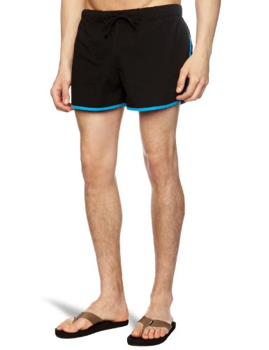 Popissue Henryk Men's Shorts Black /Blue W28 IN