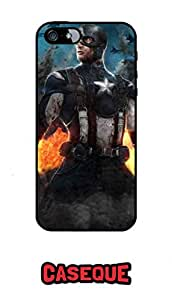 Caseque Exe Captain America Back Shell Case Cover For Apple iPhone 5/5S