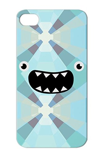 Funny Monster Face Nom Comic Cookie Smile Face Cool Baby Kids Cute Funny Silver Tpu For Iphone 4S Cover Case front-66372