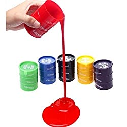 ToyTree Barrel-O-Slime Kids Toy Slime Putty (Pack of 5 and each is height is 5cm)
