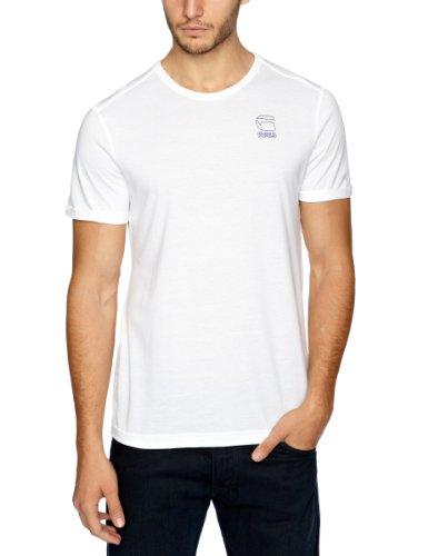 G Star CL Glan Short Sleeve Printed Men's T-Shirt Solid White Medium