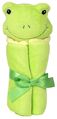 Green Frog Velboa Security Blanket for Baby - 1