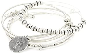 "Alex and Ani ""Trend Classics"" Tree of Life Bangle Set of 5"