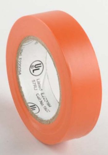 """Ate Pro.Usa 10 Roll Package Of 3/4"""" X 50' Orange Electrical Tape In Cellophane Wrap"""