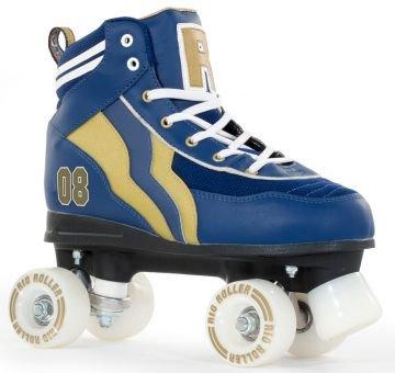 Rio Roller Varsity Quads Rollschuhe Disco Roller blau-gold blue-gold, 33