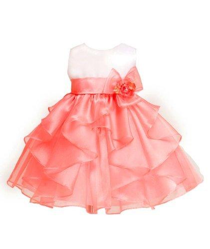 Kid Collection Baby-Girls Layered Ruffle Skirt Dress 6M Smwht/Crl(Kid B808)