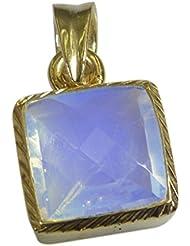 Riyo Purple Gold Plated Fire Opal CZ Pendant Pleasant Unique Gemstone Jewelry GPPFOCZ-98013