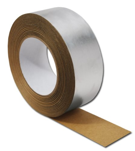 """Thermo-Tec 13997 Silver 2"""" X 30' Foil Seam Tape"""
