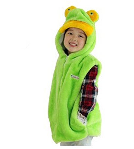 Children's Costumes Stage Cartoon Conjoined Hat Animal Vest Black Frog